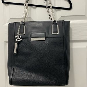 Calvin Klein leather tote bag purse